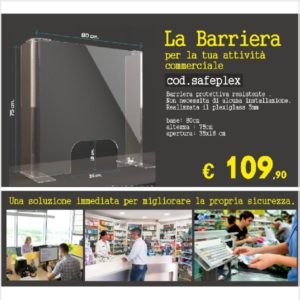 Barriera in plexiglass safeplex
